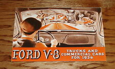 1936 Ford V-8 Truck Full Line & Commerical Cars Foldout Sales Brochure 36
