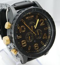 New Nixon Men's Watch 51-30 Black Gold A0831041 A083-1041 100% Authentic F/S