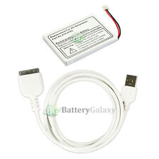 BATTERY+Rapid Fast USB Data Sync Cable for Apple iPod 4th Generation 20GB 30GB