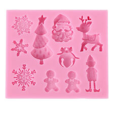 Xmas Flexible Silicone Mould - Cake Toppers, Fimo, Sugarpaste 042