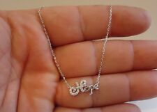 925 STERLING SILVER LADIES HOPE PENDANT NECKLACE W/ .30 CT ACCENTS / NEW DESIGN!