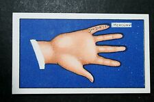 Forth Finger   Fortune Telling   Original 1930's Card  VGC