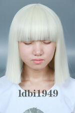 Women's Short Blonde Straight Cosplay Bob Wig Halloween Costume Sia Hair