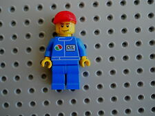 LEGO  Minifigure City Town Gas Station Worker Attandant combine shipping 2 save
