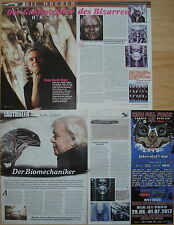 5 Seiten Berichtesammlung / Page - Collection  __  HR GIGER  __  FOR COLLECTORS