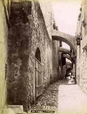 c1880s, Félix BONFILS, V Station, JERUSALEM, holy land, rare albumen photograph
