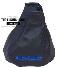 FOR VAUXHALL OPEL CORSA B TIGRA GEAR STICK GAITER BOOT 100% LEATHER BLUE GSI