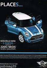 Publicité advertising 2015 Nouvelle Mini One D 5 portes