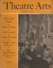 Theatre Arts Magazine January 1944 Lillian Hellman, Noel Coward