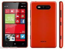 "Nokia Lumia 820 Red (FACTORY UNLOCKED) 4.3"" AMOLED , 8GB ,8MP , Dual-Core 1.5GHz"