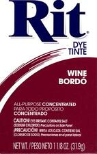 Rit All Purpose Fabric POWDER Dye Tinte - Wine