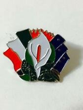 Easter Lily Tricolour Starry Plough Flags Pin Badge Irish Republican 1916 IE