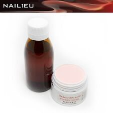 Acryl-Set: Liquid 100ml + 41g Make Up Pulver CAMOUFLAGE S-PINK/ Acryl Flüßigkeit