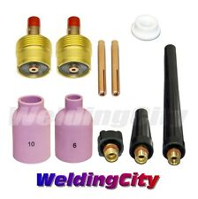 "WeldingCity Large Gas Lens Accessory Kit 3/32"" TIG Welding Torch 9/20/25 T44"