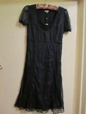 Navy Blue Chiffon Noa Noa Dress in Size XS / Size 8 - NWT