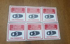 VIDEO SURVEILLANCE closed circuit CCTV  Warning Sticker (3x3in )set of 6 pcs #44