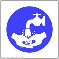 130x130MM  WASH YOUR HANDS IMAGE  - MANDATORY PRINTED VINYL STICKER