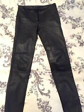 Zara Real Stretch Leather Skinny Trousers Uk 10 Leggings Rrp £250 Sold Out