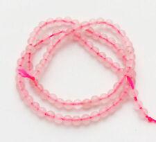 """Rose Quartz4mm Natural Gemstone Round Loose Beads 15"""" kfgtftf"""