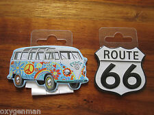 VW VOLKSWAGEN VAN & RT 66 Oil Gas Service Garage Refrigerator Toolbox Magnets