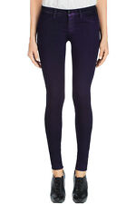 NEW J BRAND JEANS $209 815 COATED DUSTED NEBULA SUPERSKINNY IN PURPLE NEBULA 32