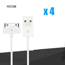 4 x USB Sync Data Cable Charging Charger Cord for iPhone 4 4S 3GS