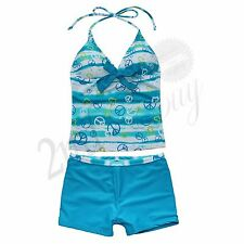 Girls Kid Two Piece Halter Swimsuit Swimming Tankini Swimwear Bikini Set 11-12Y