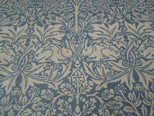 William Morris Curtain Fabric 'Brer Rabbit' 1.6 METRES Slate/Vellum  Linen Blend