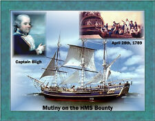 THREE PICTURES OF HMS BOUNTY AND ONE PICTURE OF PITCAIRN ISLAND