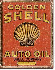 Enseigne Métallique Golden Shell Auto Oil (de)
