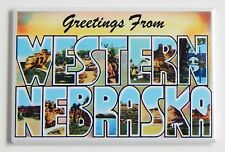 Greetings from Western Nebraska FRIDGE MAGNET travel souvenir vintage-style