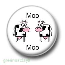 Moo Moo Cows 1 Inch / 25mm Pin Button Badge Fresian KLF Cute Cartoon Farmyard