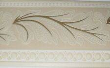 Wallpaper Border Style Selections Gold Leaf Beige Cream Textured 0148740