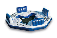 Intex Pacific Paradise Relaxation Station Water Lounge 4-Person River Tube