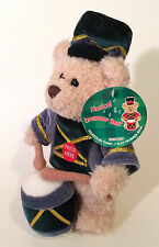 """Fine Toy Teddy Bear Musical Drummer Plays Christmas Jingle Bells Stands 10"""" Tall"""