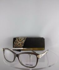 Brand New Authentic Roberto Cavalli Eyeglasses Pleione 933 020 Grey Beige Frame