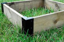 Piccolo angolo STAFFE sollevato LETTO LENZUOLA vegetale pianeta BOX GIARDINO x 4-Nero