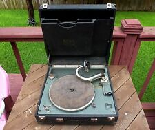 RARE ANTIQUE ALBA MAESTROPHONIC PORTABLE DELUX GRAMOPHONE ~ EARLY 1900s ~ WORKS