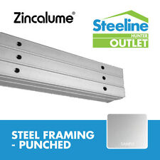 *DISCOUNT* 75mm Zincalume Stud - Steel Framing (Punched)