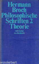 PHILOSOPHIQUE Polices 2 - THEORIE - Hermann BROCH tb (1977)