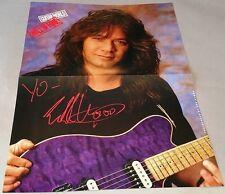 """Eddie Van Halen - """"Guitar World - Hall of Fame"""" - Magazine Poster - 11"""" x 15"""""""