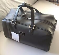 Calvin Klein Grey PVC Leather Like Cold Springs 2.0 Travel Bag Carryon Duffle