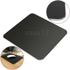Black Aluminum Alloy Rubber Base Pad Non-Slip Waterproof Ultra Thin Mouse Pad