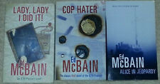 Ed McBain LADY LADY I DID IT, ALICE IN JEOPARDY, COP HATER (paperbacks)