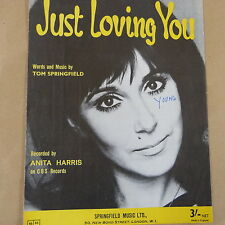 song sheet JUST LOVING YOU, Anita Harris, 1967