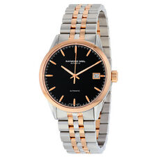 Raymond Weil Freelancer Automatic Black Dial Two-tone Stainless Steel Mens