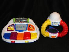 TWO (2) BABY EINSTEIN TOYS - COUNT & COMPOSE PIANO & KALEIDOSCOPE COLORS BILINGU