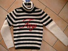 (H521) FAY Girls Rollkragen Pullover Wolle Logo Schriftzug auf der Brust gr.116