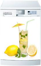 Sticker lave vaisselle déco cuisine électroménager citronnade réf 678 60x60cm
