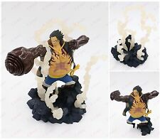 Anime One Piece characer Luffy gear 4 fourth pvc figure + somke base 8in. nobox